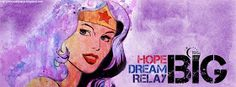Wonder Woman Relay For Life Facebook Cover