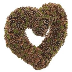 tobs Large Moss & Cone Heart, Natural