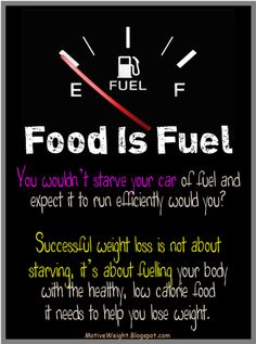 Eat healthy, don't starve yourself