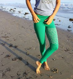 These Yoga Wear Leggings are Designed to Look Like a Mermaid Tail #sports #style
