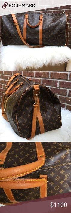 Authentic Louis Vuitton Keepall 55 Bandouliere Authentic Louis Vuitton Keepall 55 Bandouliere. This is a must have Bag. Excellent condition. Very clean on the inside and out. Feel free to ask questions or bundle for a private offer without having to commit. Louis Vuitton Bags Travel Bags