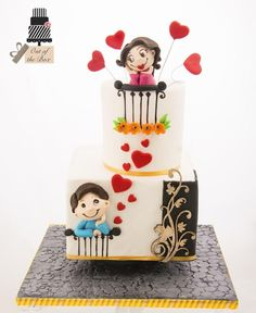 Love is in the air by Out of the Box - http://cakesdecor.com/cakes/223446-love-is-in-the-air