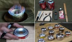 Diy ~ How To Make A Penny Can Stove ~ fun for camping