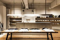 Saturdays Surf NYC Opens Flagship Store In Osaka, Japan Saturdays Surf, Select Shop, Retail Merchandising, Japan Design, Shops, Retail Interior, Retail Space, Shop Interiors, Retail Shop