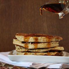Peanut Butter- Chocolate Chip Pancakes #recipe