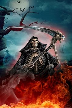 animated gifs-scary grim reaper-animation | Grim Reaper