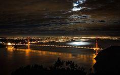San Francisco at night wallpaper
