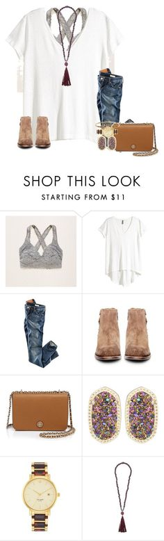 """My weekend tho"" by katew4019 ❤ liked on Polyvore featuring Aerie, H&M, H by Hudson, Tory Burch, Kendra Scott, Kate Spade, Zeus+Dione, women's clothing, women's fashion and women"