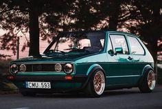 Volkswagen Volkswagen Golf Mk1, Vw Mk1, Jdm, Green Colors, Cool Cars, Vehicle, Racing, Dreams, Awesome