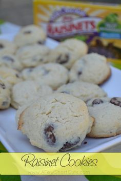 Rasinet Cookies #recipe  (my dad would LOVE these!!)