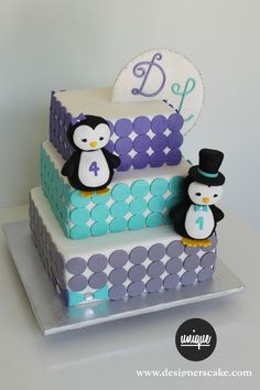 Pin Unique Funny Humorous Wedding Cake Toppers Ideas By Lily Tsai . Wedding Cake Toppers, Wedding Cakes, Penguin Cakes, Cute Penguins, Creative Cakes, Tiered Cakes, Amazing Cakes, Toy Chest, Birthday Parties