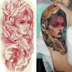 The Morrigan Tattoo by Toni Donaire, Spain. It's absolutely gorgeous.