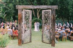 This was a garden wedding and the service sat perfectly in between humid bouts of rain.