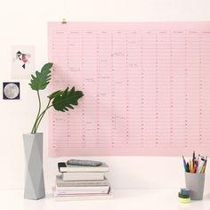 Kalender+2015+SNUG.MEMO+pink+auf+softpink+von+SNUG.STUDIO+auf+DaWanda.com