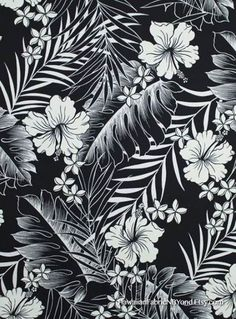 Trendy Flowers Black And White Tropical Ideas Black And White Flowers, Black And White Drawing, Black And White Illustration, Black And White Prints, Hawaiianisches Tattoo, Tropical Flowers, Hibiscus Flowers, Art Japonais, Motif Floral