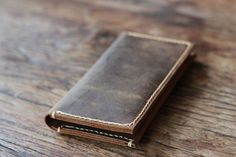 Rustic Leather Wallet Style -- Mens Distressed Leather Wallets -- Best Unique Groomsmen Gifts