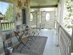 panels on porch