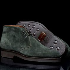 Bontoni 'Desert' Forest Green Suede Boot.