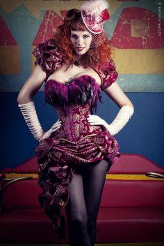 Saloon Girl Style Burlesque Costume