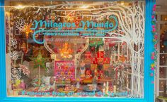 "MILAGROS MUNDO #Funky #Fairtrade & #Hippy Chic"": ☆ WINTER IS COMMING ☾☆ #DIY painted #fairytale #winter shopwindow"