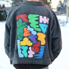 Hand painted, abstract shapes, up-cycled jacket. One of a kind!! Water proofed for durability Fits sizes XS-L . . . #kaleo #chicago #denim #diy #painting #sewing #ccc #artschool #reuse #sustainability #jackets #jeanjacket #fashion #crafts #handmade #handcrafted #trendy #grunge #hipster #custom #sports #garage #fangear #corduroy #smallbusiness #handpainted