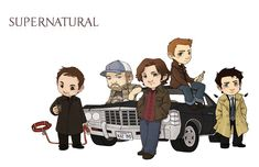 Love how Crowley is holding his hell hound