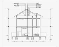 Contoh Gambar Potongan Rumah Minimalis menggunakan Autocad - Griya Bagus Technical Drawing, Civil Engineering, Autocad, Restaurant Design, House Plans, Floor Plans, Construction, House Design, How To Plan