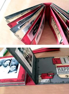Mini-album à double livrets - tutoriel                                                                                                                                                                                 Plus
