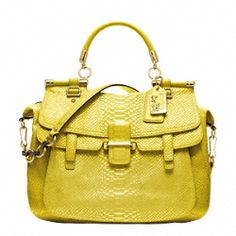 Coach- MADISON PINNACLE EMBOSSED METALLIC PYTHON ABBY