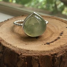 Prehnite heart ring Heart Ring, Gemstone Rings, Jewellery, Gemstones, Jewels, Gems, Schmuck, Heart Rings, Minerals