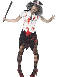 Zombie Policewoman Costume at funnfrolic.co.uk - £17.59