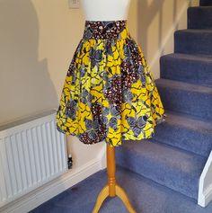 African Short Skirt  African Printed Short Skirt High Waist short skirt - Printed skirt - African Clothing - Ankara short Skirt Ankara Print