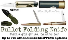How fun are these!!!!! Bullet Knife makes a FUN gift idea, with FREE shipping options, grabbing this as a gift for my HUBBY