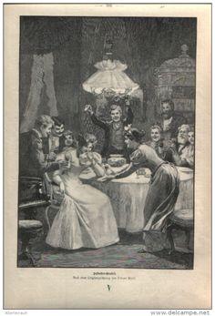 """Silvesterorakel - Druck, entnommen  aus """"die Gartenlaube"""", 1897"""