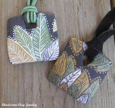 FREE TUTORIAL! Rustic Leaf Palm Pendants! http://www.charlestonclayjewelry.com/tutorials/free-tutorial-on-rustic-palm-leaf-batik-pendant
