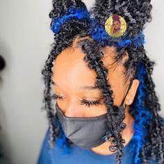 Cute Box Braids Hairstyles, Hair Ponytail Styles, Faux Locs Hairstyles, Braids Hairstyles Pictures, Black Girl Braided Hairstyles, Baddie Hairstyles, Curly Hair Styles, Natural Hair Styles, Hairdos