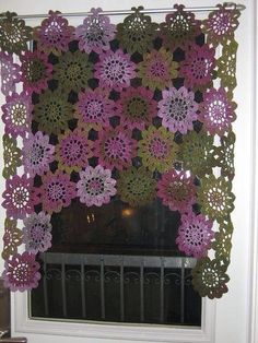 Crocheted valance