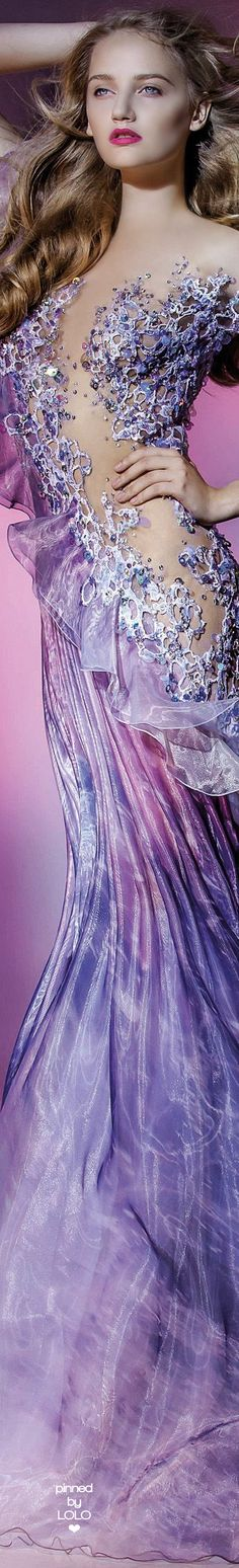 Blanka Matragi Fall/ Winter 2016/17 Couture Fashion, Fashion Show, Fashion Design, Color Violeta, Color Lila, Glamour, Purple Fashion, Look Chic, Shades Of Purple