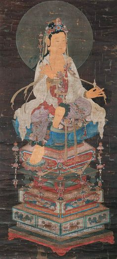 Bodisatva and the Pea! Avalokiteśvara, the Sanskrit word for Kuan Yin in Chinese, the bodhisattva of compassion who hears the cries of the world Buddha Buddhism, Buddhist Art, Taoism, China Art, Guanyin, Traditional Paintings, Religious Art, Ancient Art, Buddhism