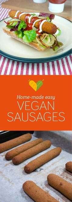 I wanted to try another way to make vegan sausages so after some experimenting I came up with this recipe. Very easy to make and so delicious!
