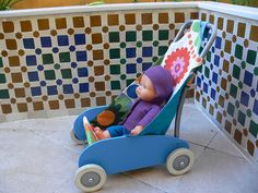 Ikea hack: transforming EKORRE toddler truck  into buggy for doll