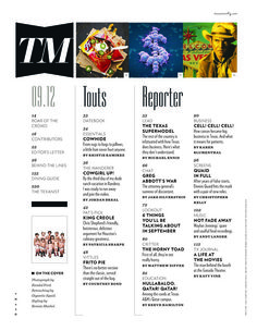 Last fall everyone's favorite regional mag Texas Monthly underwent a total redesign under the creative direction of TJ Tucker and his team Editorial Design Inspiration, Editorial Layout, Magazine Layouts, Magazine Design, Texas Monthly, Content Page, Graphic, Regional, Layout Design