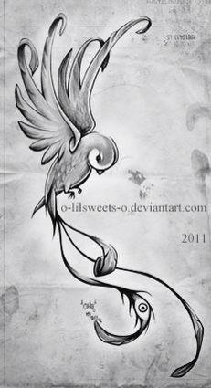 Quetzal Bird Tattoo Design❤️