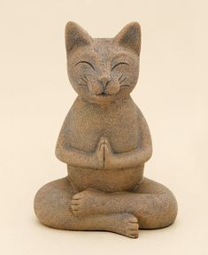 Adding charm and whimsy to your surroundings, this cat has reached a state of purr-fect bliss! Take inspiration from his peaceful expression and give yourself a few moments to simply be still. Namaste, Meditating Cat, Yoga Studio Design, Cat Statue, Stone Statues, Animal Statues, Beautiful Fantasy Art, Unique Cats, Space Cat