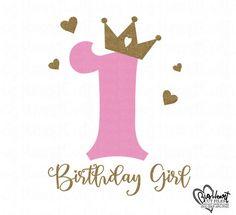 Birthday SvgPngJpgDxf First Birthday Svg Birthday image 0 Happy Birthday 1 Year, 1st Birthday Girls, Princess Birthday, Birthday Template, Birthday Background, Happy 1st Birthdays, Lettering Tutorial, Happy B Day, Birthday Images