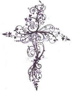 Cross tattoo design by ~Zanie-LArch on deviantART i love this!