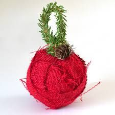 Image result for christmas burlap ornaments