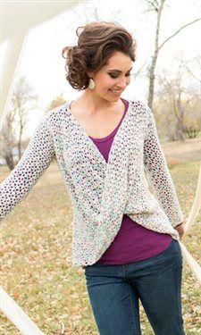 Jersey con original delantero, en crochet, by Megan Granholm