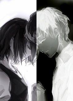 Touka Kirishima and Ken Kaneki - Tokyo Ghoul Touka Kaneki, Ken Kaneki Tokyo Ghoul, Tokyo Ghoul Manga, Manga Anime, Sad Anime, Manga Love, Anime Love, Image Tokyo Ghoul, Tokyo Ghoul Wallpapers