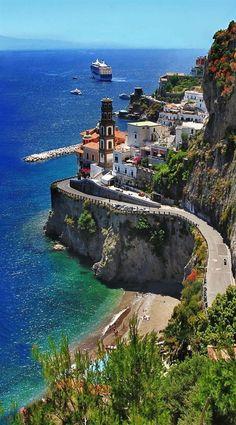 artncity: Amalfi Coast Scenic beautiful places for travel #italytravel